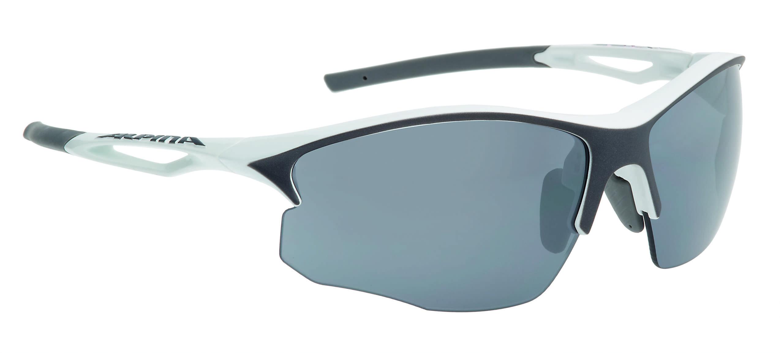 Очки солнцезащитные Alpina PERFORMANCE SORCERY HR CM+ white-antracite matt, солнцезащитные, 1180491  - купить со скидкой