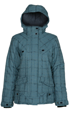 Куртка сноубордическая POWDER ROOM 2011-12 ZENITH JACKET Celestial/Glacier/Navy - Slub Plaid