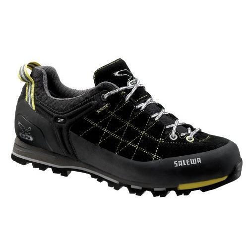 Купить Ботинки для альпинизма Salewa Alpine Approach Mens MS MTN TRAINER GTX black-acid lemon Альпинистская обувь 896459