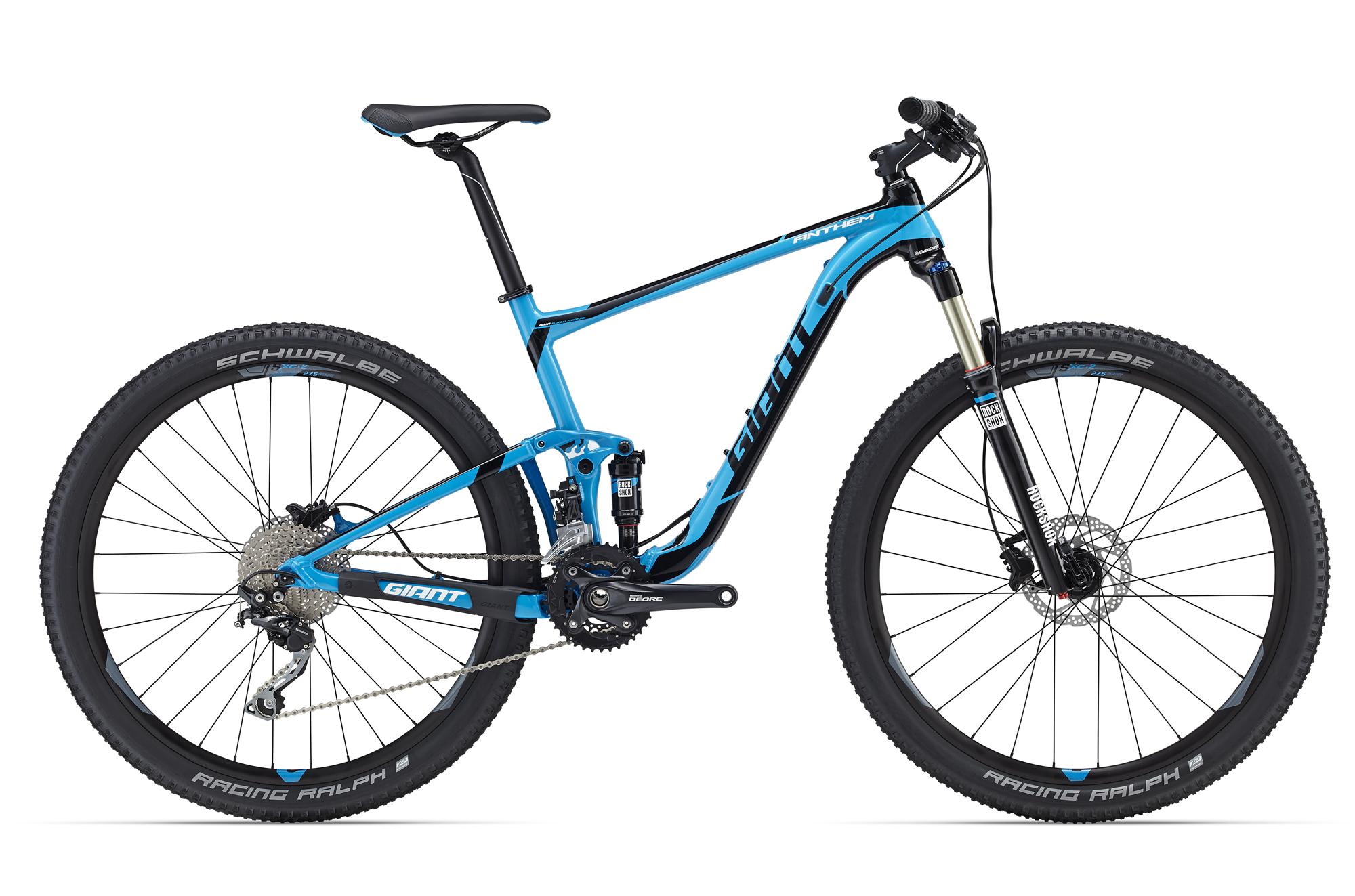 Велосипед Giant Anthem 27.5 3 2016 BLUE / Синий, Двухподвесы, 1262277  - купить со скидкой