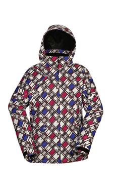 Купить Куртка сноубордическая POWDER ROOM 2011-12 MARS JACKET White/Black/Sapphire/Berry - Geo, Одежда сноубордическая, 747975