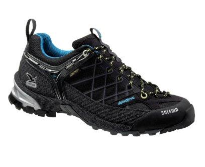 Купить Треккинговые кроссовки Salewa Tech Approach Womens WS FIRE TAIL GTX black-lemon Треккинговая обувь 896714