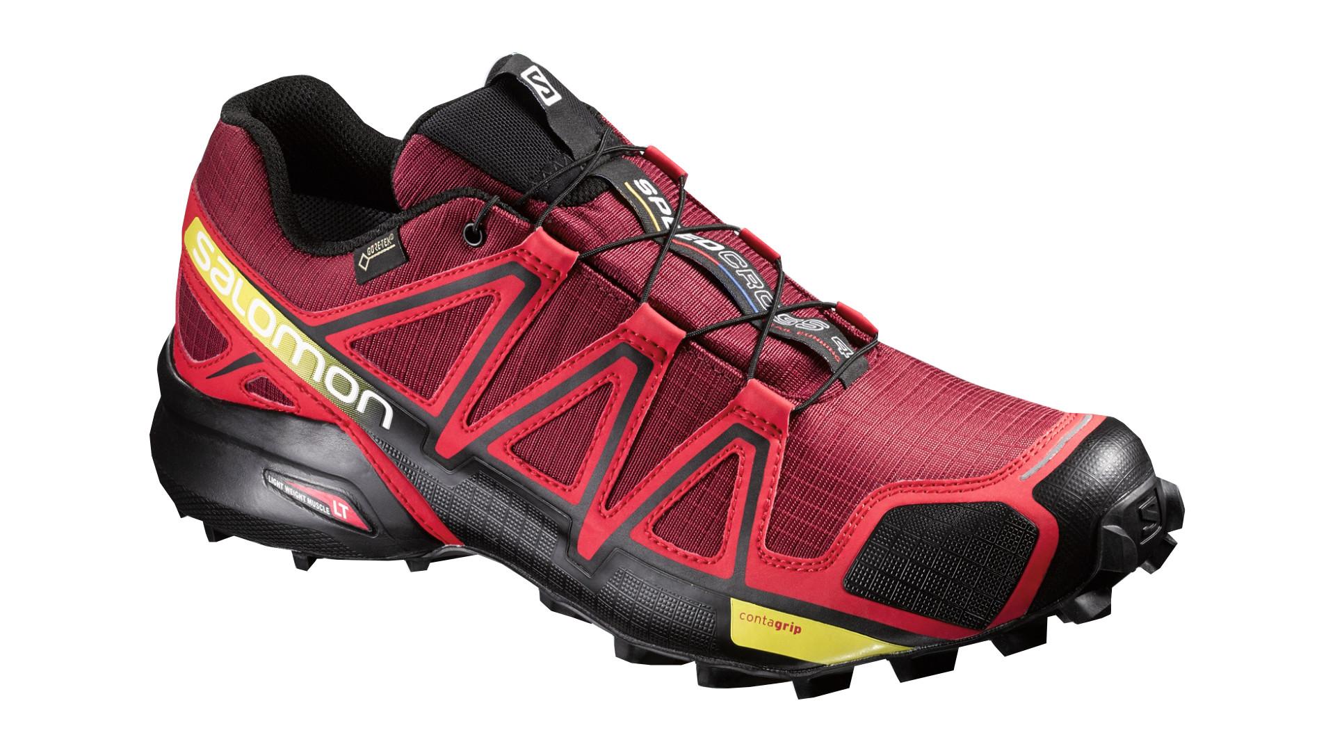 Беговые кроссовки для XC SALOMON 2016-17 SHOES SPEEDCROSS 4 GTX BRIQUE-X/RADIANT Кроссовки бега 1270587  - купить со скидкой