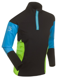 Купить Футболка с длинным рукавом беговая Bjorn Daehlie Top FINNMARK Black/Hawaiian Ocean (черный/синий) Одежда лыжная 859099