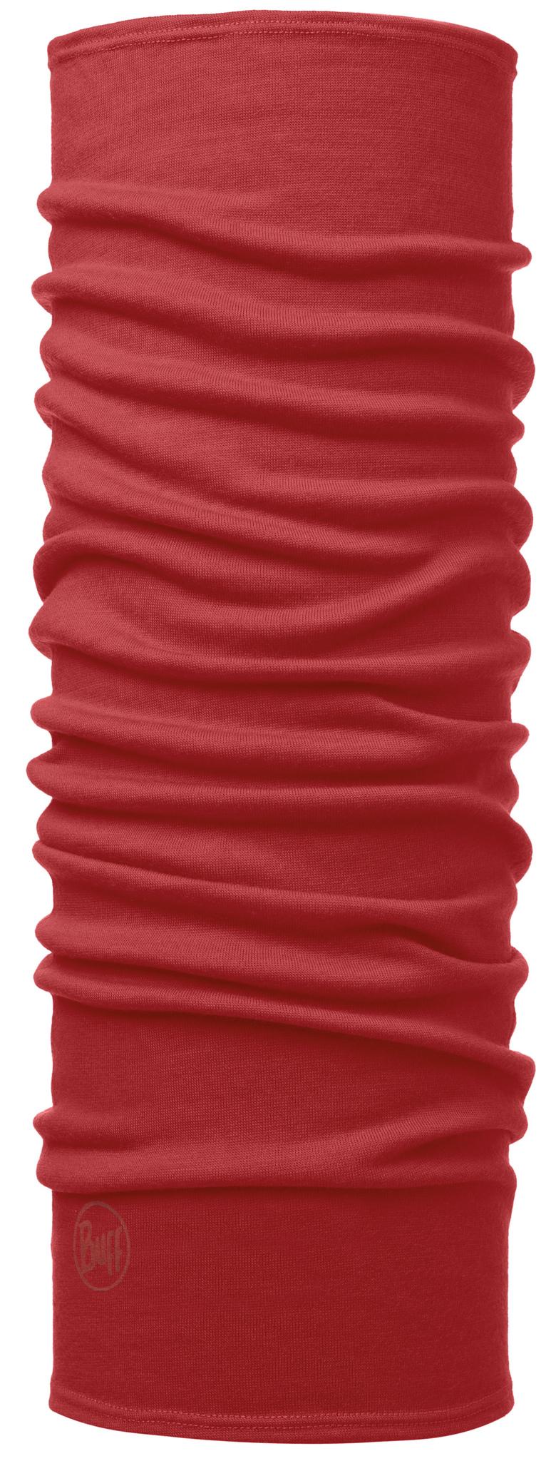 Бандана Buff Midweight Merino Wool Solid Cranberry Red