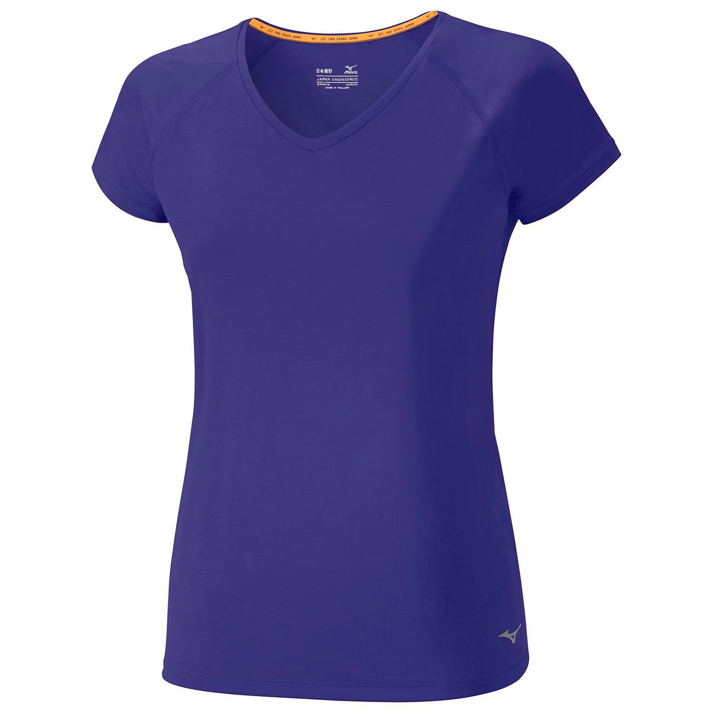 Купить Футболка беговая Mizuno 2017 Active Tee фиолет Одежда для бега и фитнеса 1334690