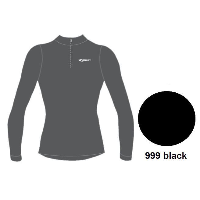 Купить Футболка С Дл. Рукавом, Футболка С Длинным Рукавом Accapi Tecnosoft Plus Long Sl.t-Shirt 1/2 Zip Man (Black) Черный, мужской, Термобелье