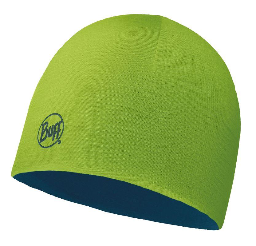 Купить Шапка BUFF MERINO WOOL REVERSIBLE HAT SOLID LIME-DEEP BLUE-LIME-Standard Банданы и шарфы Buff ® 1228081