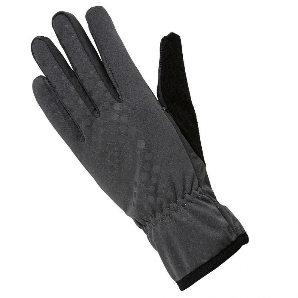 женские перчатки asics, серые
