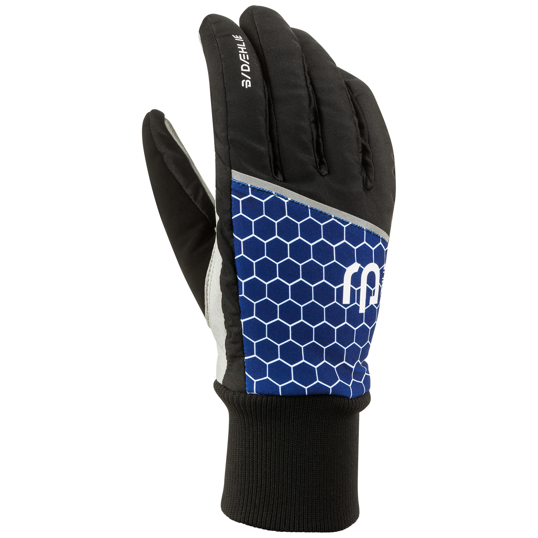 женские перчатки bjorn daehlie, синие