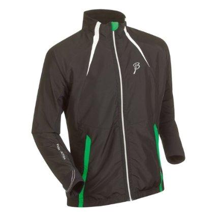 Купить Куртка беговая Bjorn Daehlie Jacket CONTEST Black/Snow White/Fern Green (черный/белый/зеленый) Одежда для бега и фитнеса 859009