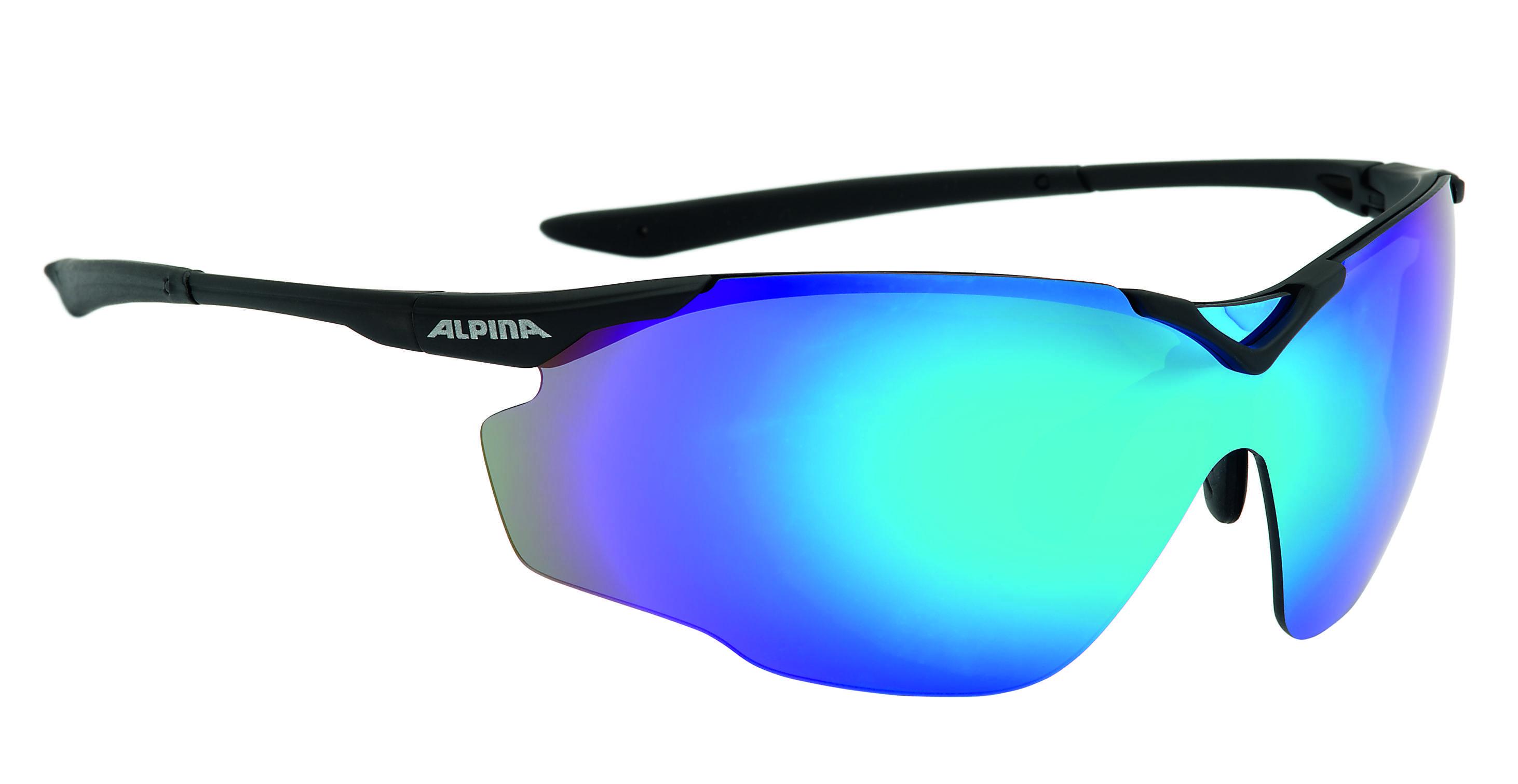 Очки солнцезащитные Alpina PERFORMANCE SPLINTER SHIELD black matt 1180549  - купить со скидкой