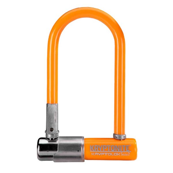 Замок Велосипедный Kryptonite U-Locks Kryptolok Mini-7 W/ Flexframe-U Bracket (Color-Lt.orange)