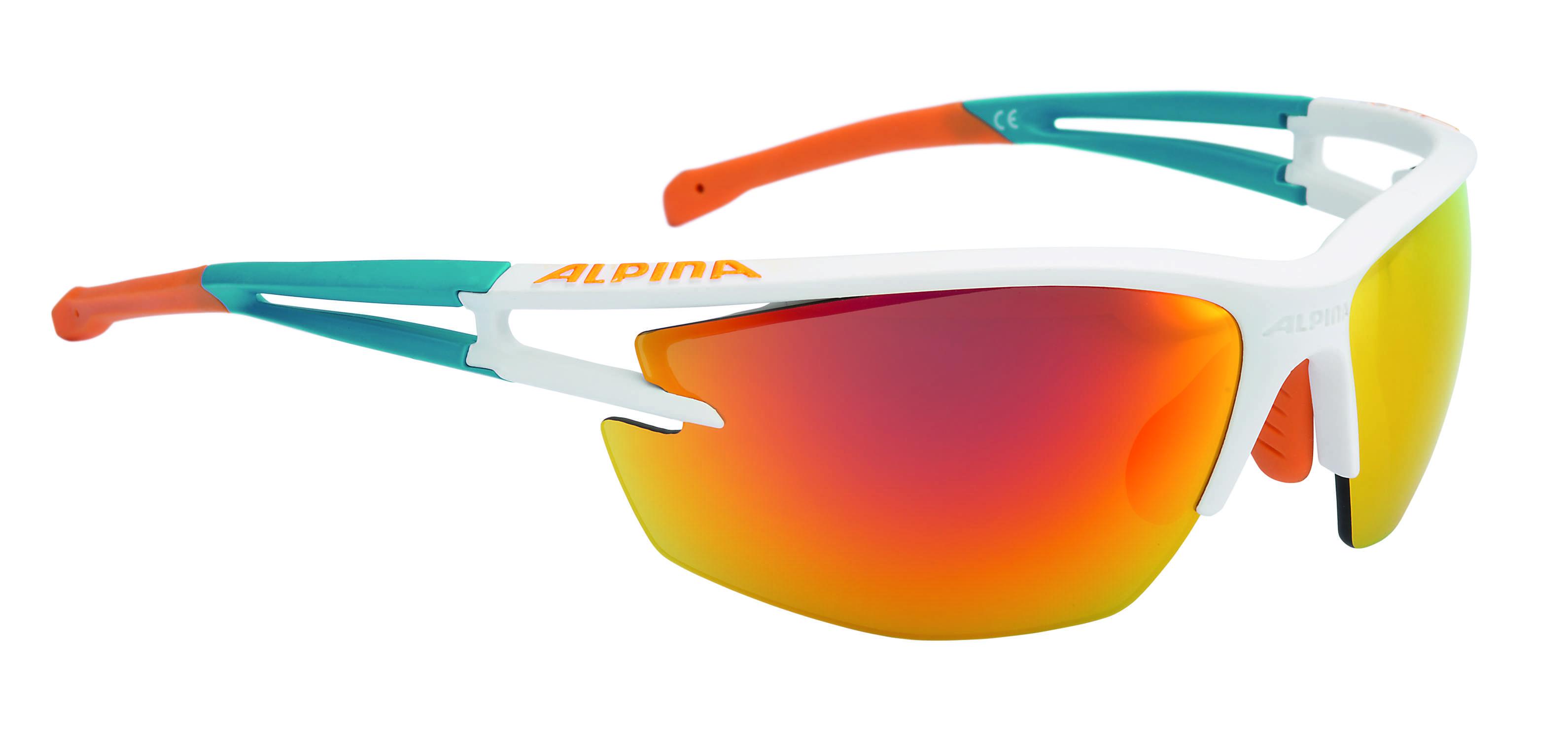 Купить Очки солнцезащитные Alpina PERFORMANCE ALPINA EYE-5 HR CM+ white matt-cyan-orange, солнцезащитные, 1180447