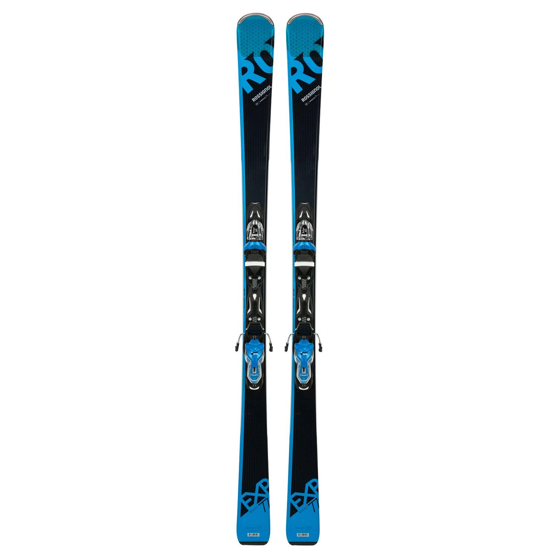 Купить Горные лыжи с креплениями ROSSIGNOL 2017-18 EXPERIENCE 77 Bslt (XPRESS)/XPRESS 11 B83 BLACK/BLUE, лыжи, 1363810