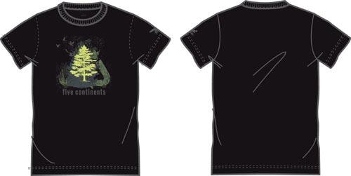 Купить Футболка для активного отдыха Salewa 5 Continents TREE CO M TEE black Одежда туристическая 549275