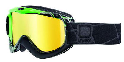 Очки горнолыжные UVEX G.GL 4 Core (Tune Up) Black/Green/White Shiny