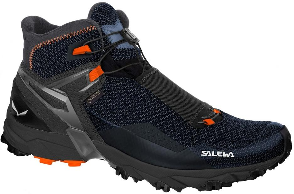 Купить Ботинки для хайкинга (низкие) Salewa 2017-18 MS ULTRA FLEX MID GTX Black/Holland, Треккинговые кроссовки, 1374043