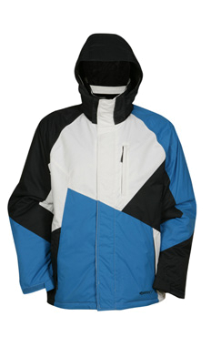 Куртка сноубордическая RIPZONE 2011-12 KNOCKOUT- sherpa Carbon/White/Electric Blue