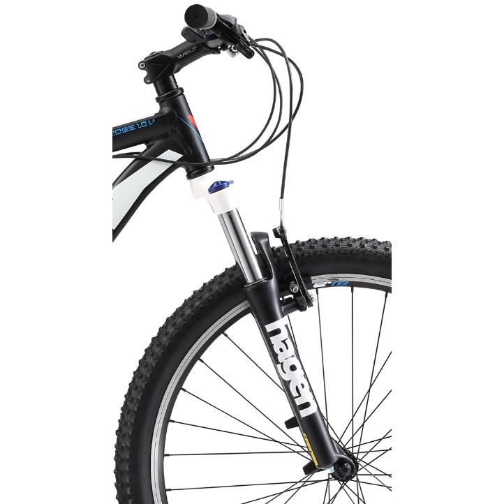 Велосипед Welt 2018 Ridge 1.0 V Matt Black/white/red