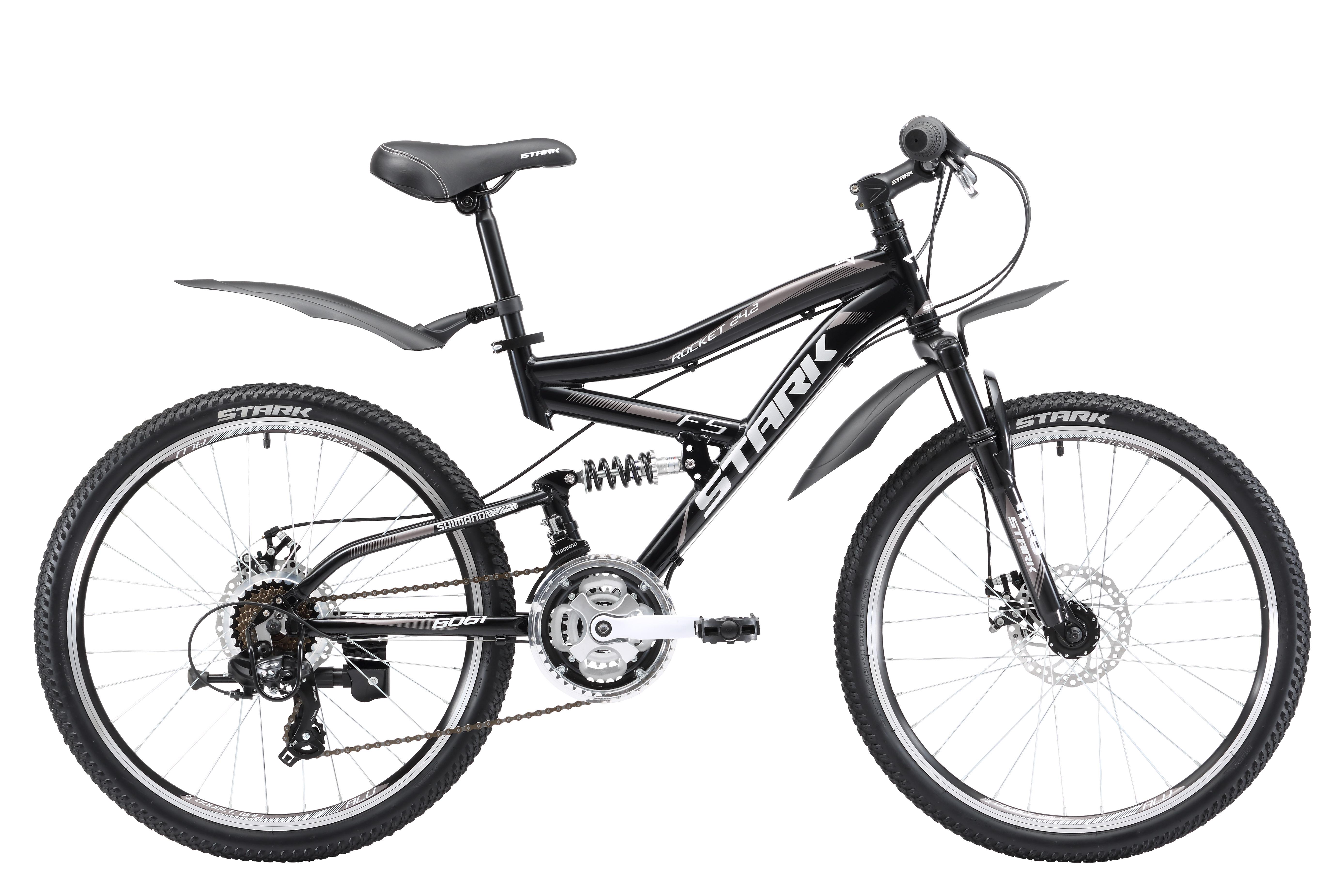 Купить Велосипед Stark Rocket 24.2 FS D 2017 Черно-Серый, Подростковые велосипеды, 1317862