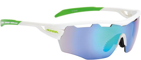 Купить Очки солнцезащитные Alpina PERFORMANCE TRI-SCRAY SHIELD white-green/green mirror S3 / clear S0 orange S2, солнцезащитные, 1131711
