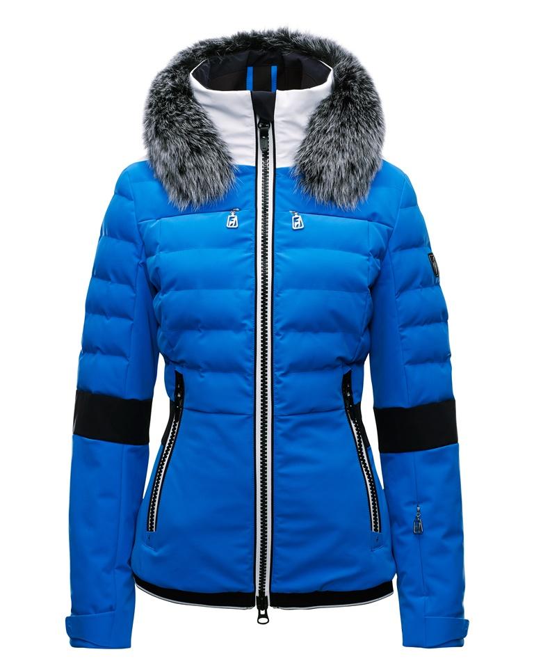 Купить Куртка горнолыжная TONI SAILER 2017-18 MELISSA fur shine blue Одежда 1373067