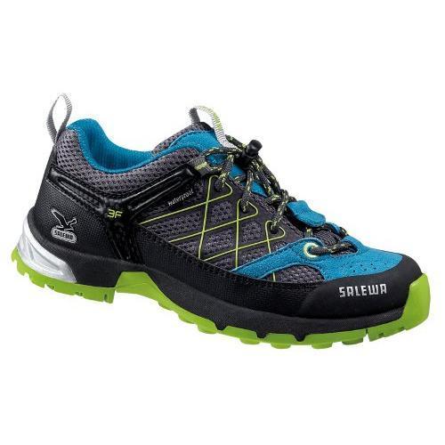 Купить Ботинки для треккинга (низкие) Salewa Junior JUNIOR FIRETAIL WATERPROOF carbon-pagoda Треккинговая обувь 896873