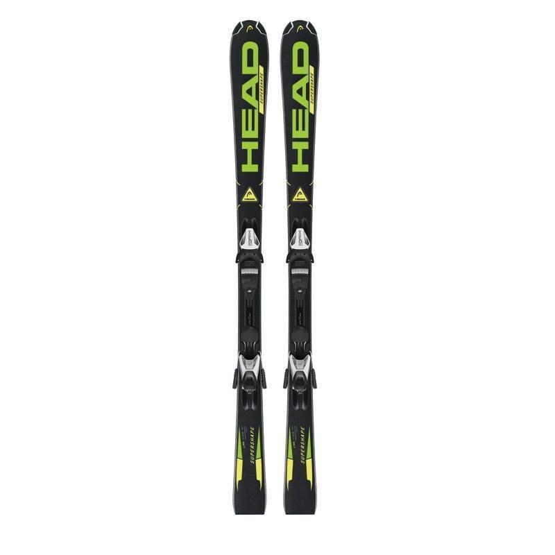 Купить Горные лыжи с креплениями HEAD 2013-14 Supershape LR bk/ge + LRX 7.5 AC, лыжи, 1010788