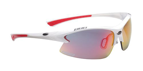 Очки солнцезащитные BBB Impulse PC smoke red MLC lens red tips Team white (BSG-38)