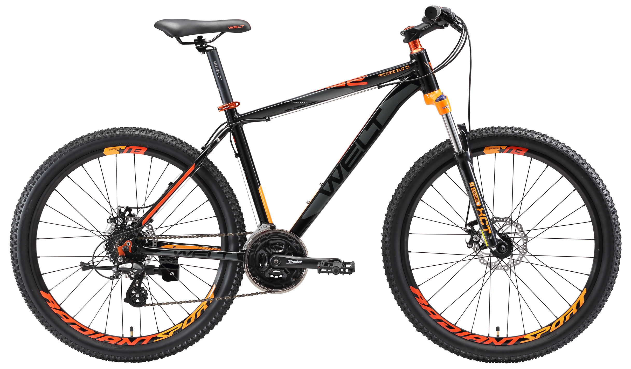 Велосипед Welt 2018 Ridge 2.0 D 29Er Black/orange/grey