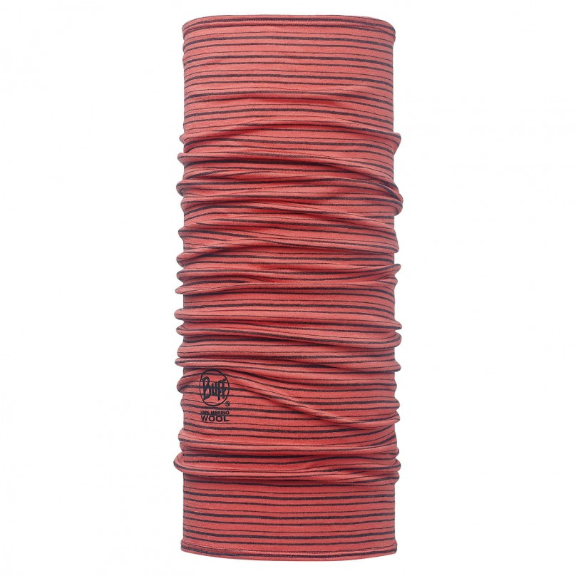 Купить Шарф BUFF Wool Patterned & Dyed Stripes MERINO WOOL CORAL STRIPES Банданы и шарфы Buff ® 1263388