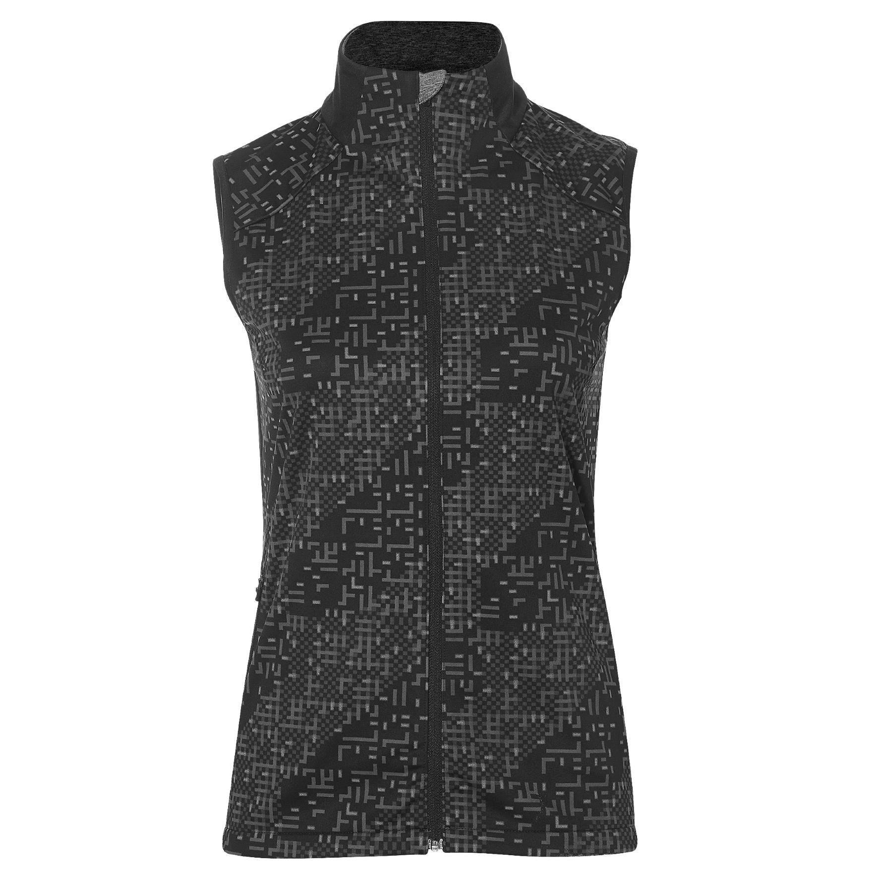 Купить Жилет Беговой Asics 2017-18 Lite-Show Vest Черный, женский, Одежда для бега и фитнеса