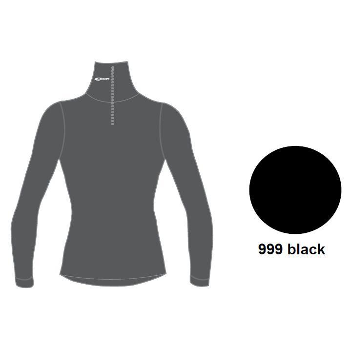 Купить Футболка С Дл. Рукавом, Футболка С Длинным Рукавом Accapi Tecnosoft Plus Turtleneck Sw. 1/2 Zip Lady (Black) Черный, женский, Термобелье