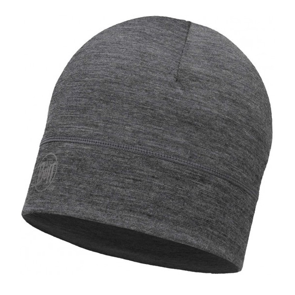 Купить Шапка BUFF LIGHTWEIGHT MERINO WOOL HAT SOLID GREY Банданы и шарфы Buff ® 1263588