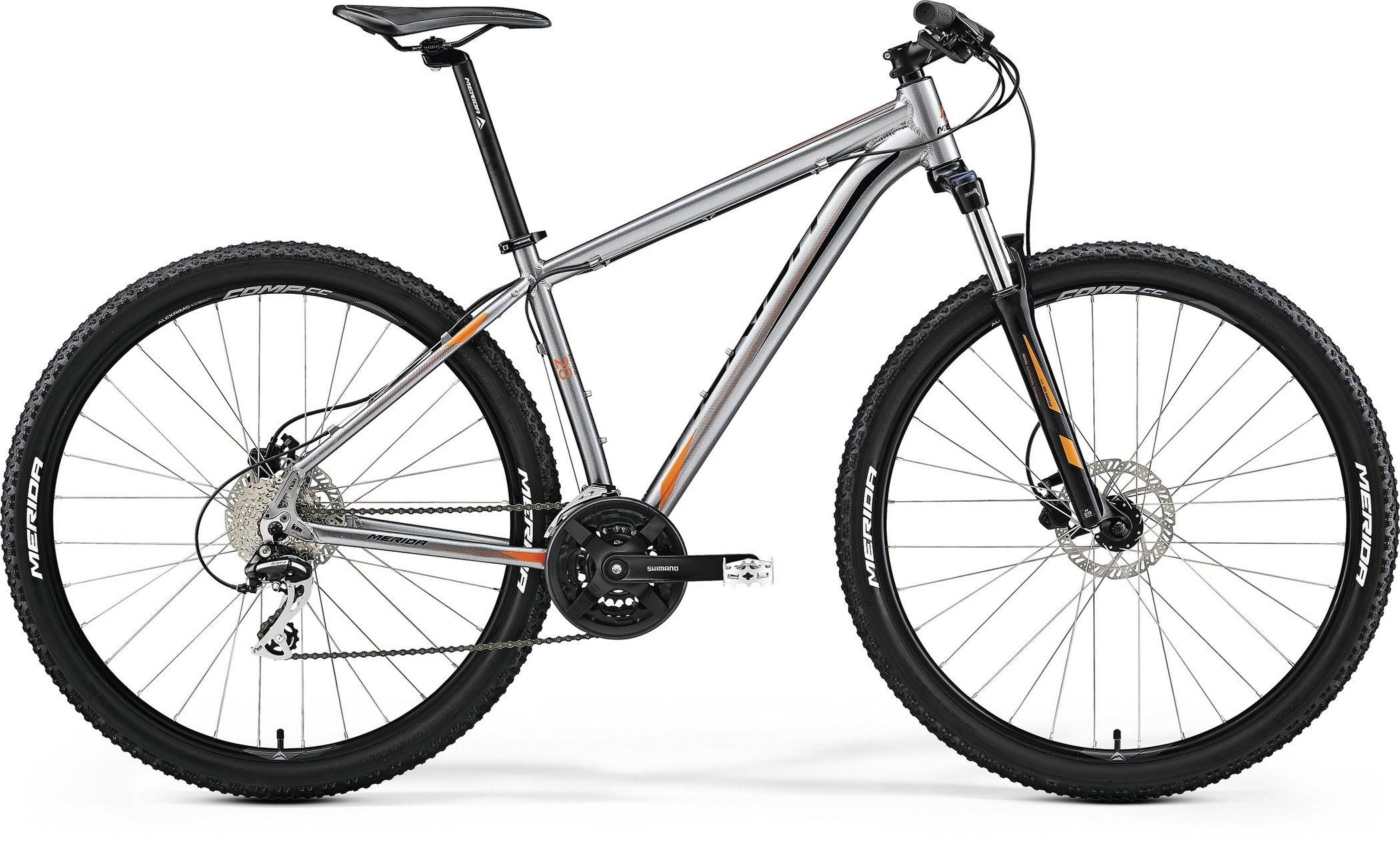 Велосипед Merida Big.nine 20-D 2017 Anthracite (Orange/black)