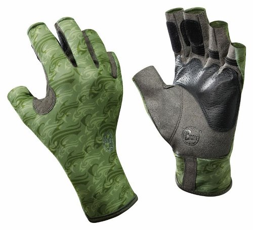 Купить Перчатки рыболовные BUFF Pro Series Angler Gloves Skoolin Sage (св. зеленый) Перчатки, варежки 849394