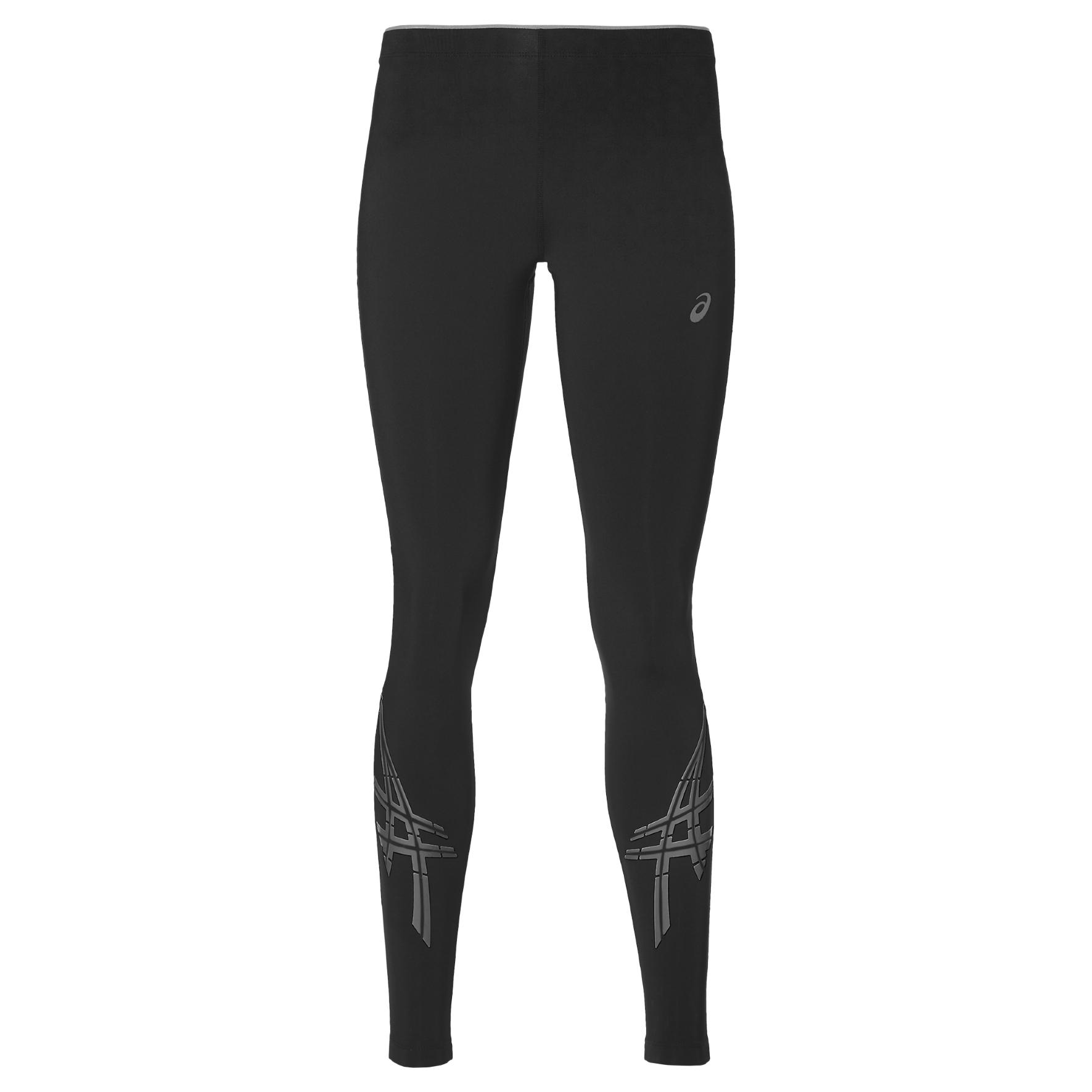 Купить Тайтсы Беговые Asics 2017 Asics Stripe Tight Черный, женский, Одежда для бега и фитнеса
