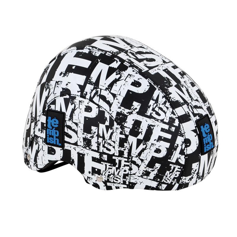 Летний шлем TEMPISH 2016 CRACK черно/бел, Шлемы велосипедные, 1178542  - купить со скидкой