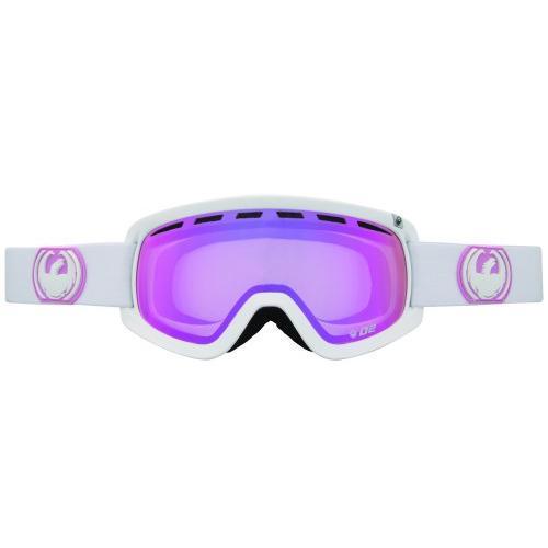 Купить Очки горнолыжные DRAGON 2014-15 D2 White/PinkIon+Ionized RL, горнолыжные, 1134863