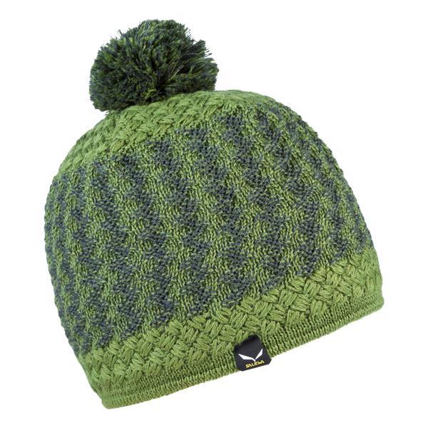 женская шапка salewa, зеленая