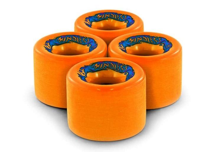 Купить со скидкой Колеса (4 Штуки) Для Лонгборда Mindless 2015 Maji Wheels Orange
