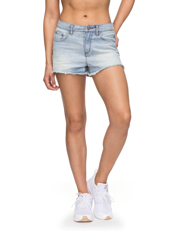 Купить Шорты Для Активного Отдыха Roxy 2018 Littleabacoshor J Dnst Light Blue, женский, Одежда для активного отдыха