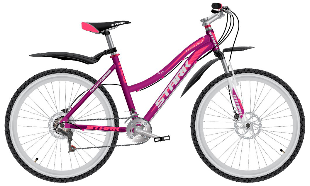 Купить Велосипед Stark Luna 26.2 D 2017 Сине-Розовый, Горные, 1317824
