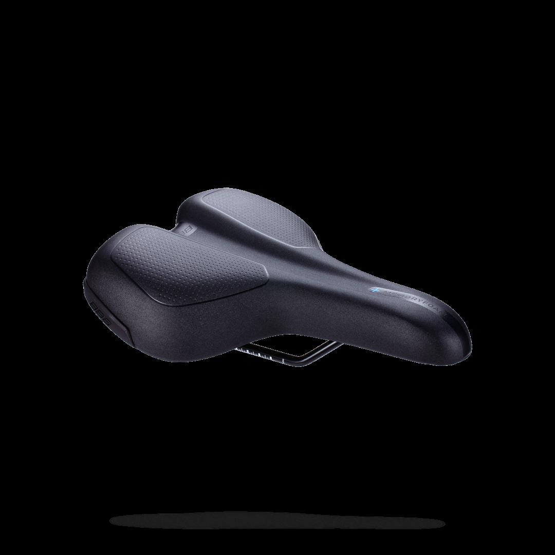 Купить Седло Bbb Touringplus Active Ergonomic Saddle Memory Foam Steel Черный, унисекс, Седла и подседельные штыри