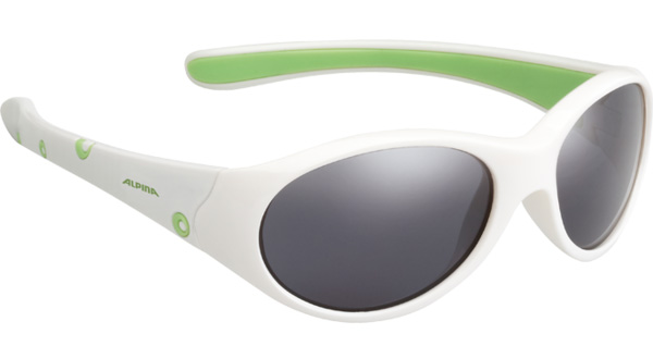 Купить Очки солнцезащитные Alpina JUNIOR / KIDS Flexxy Girl white-green/black mirror S3, солнцезащитные, 1131868