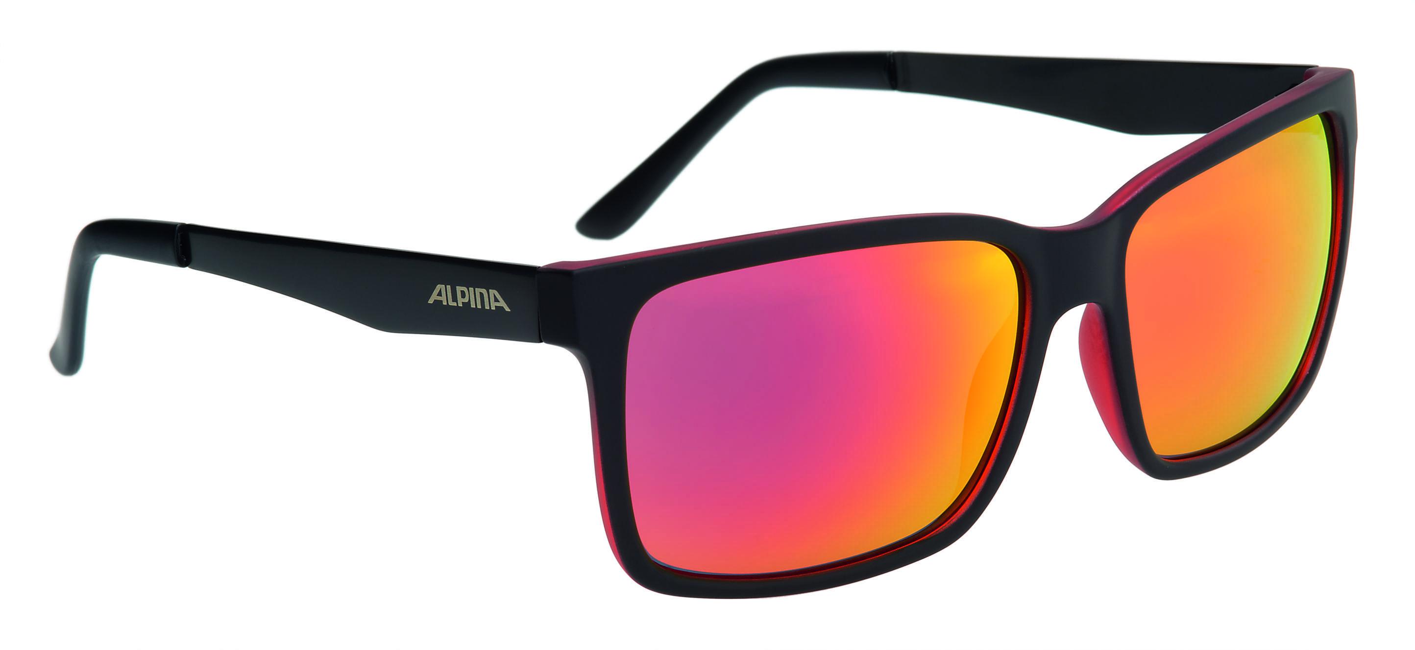 Купить Очки солнцезащитные Alpina SPORT STYLE DON HUGO black matt-red, солнцезащитные, 1180575