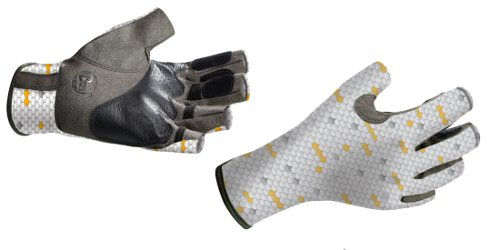 Купить Перчатки рыболовные BUFF Pro Series Angler Gloves белая чешуя Перчатки, варежки 849409