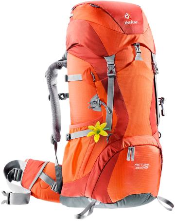 Купить Рюкзак Deuter Aircontact Lite ACT 35 + 10 SL papaya-lava Рюкзаки туристические 1073028