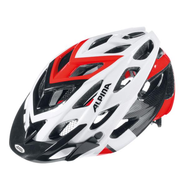 Купить Велошлем Alpina 2018 D-Alto white-black-red, Шлемы велосипедные, 1254706
